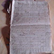 Documentos antiguos: LEGAJO DE LOS AÑOS 1870 CON PAPELETAS DE CONMINACION AL PAGO LEER DESCRIPCION ENVIO GRATIS. Lote 84854612