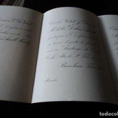 Documentos antiguos: ANTIGUA INVITACION DE BODAS 1904 INDIANO OFRECE SU CASA EN SANTIAGO DE CUBA, PAPEL RIVES. Lote 85084352