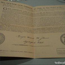 Documentos antiguos: BULA DE CRUZADA - CARDENAL PLA Y DENIEL. ARZOBISPO DE TOLEDO. 1963 17 X 25 CM. Lote 85252136