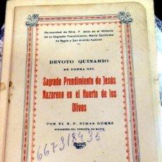 Documentos antiguos: SEMANA SANTA SEVILLA,1945, DEVOTO QUINARIO HERMANDAD DE LOS PANADEROS,20 PGS.MUY RARO. Lote 85387920
