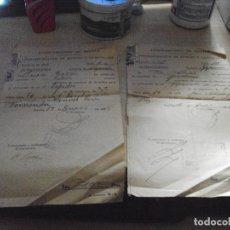 Documentos antiguos: 2 VALES DE ADMINISTRACION DE RENTAS Y EXACCIONES DEL AYUNTAMIENTO DE SEVILLA DE 1955. Lote 85921364