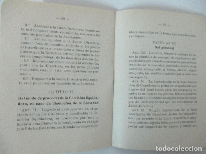 Documentos antiguos: Real Asociación de Cazadores de Barcelona - Reglamentos y Estatutos - Año 1920 - Foto 7 - 86088168