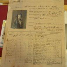 Documentos antiguos: ESPECTACULAR HOJA DE SERVICIOS EMPLEADA BANCO DE BILBAO DESDE 1923 A 1950, VER IMAGENES. Lote 86107484