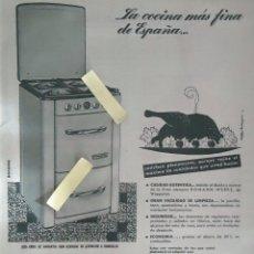 Documentos antiguos: PUBLICIDAD ANUNCIO VINTAGE COCINA ORBEGOZO ELECTRODOMESTICOS AMA CASA INDUSTRIA ESPAÑOLA. Lote 86377852