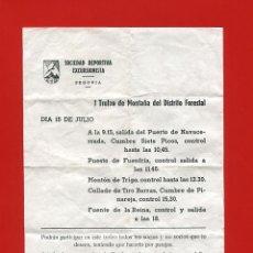 Documentos antiguos: SDE - SOCIEDAD DEPORTIVA EXCURSIONISTA - MONTAÑISMO - ANTIGUO DOCUMENTO. Lote 86581332