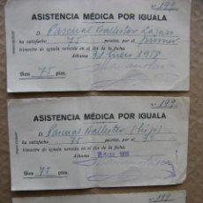 Documentos antiguos: PPRLY - ASISTENCIA MÉDICA POR IGUALA. 1958. ALHAMA DE ARAGÓN. ZARAGOZA.. Lote 87317488