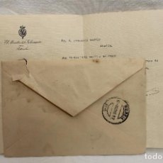 Documentos antiguos: CARTA MINISTRO DE LA GOBERNACION 1915, FIRMADA D. JOSE SANCHEZ GUERRA, EPOCA ALFONSO XIII. Lote 87383136