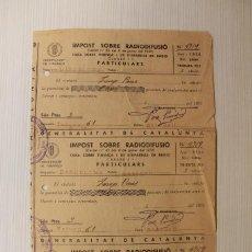 Documentos antiguos: IMPOST SOBRE RADIFUSIÓ, SABADELL, 1938, REPÚBLICA. Lote 87717284