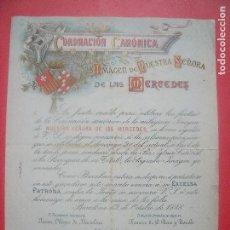 Documentos antiguos: NUESTRA SEÑORA DE LAS MERCEDES.-CORONACION CANONICA.-FRANCISCO DE L. RIUS Y TAULET.-BARCELONA.-1888.. Lote 88163480
