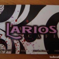Documentos antiguos: TARJETA TIKET LARIOS CAFE. Lote 143171148