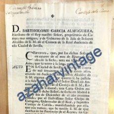 Documentos antiguos: CARTA ORDEN DIRIGIDA A CASTILLEJA DE LA CUESTA,1765, PARA EXTERMINIO DE LADRONES DE CAMINOS,3 PAGINA. Lote 88788144