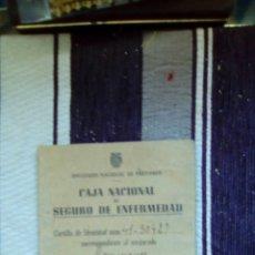 Documentos antiguos: CARTILLA CAJA NACIONAL DE SEGURO DE ENFERMEDAD. Lote 89032726