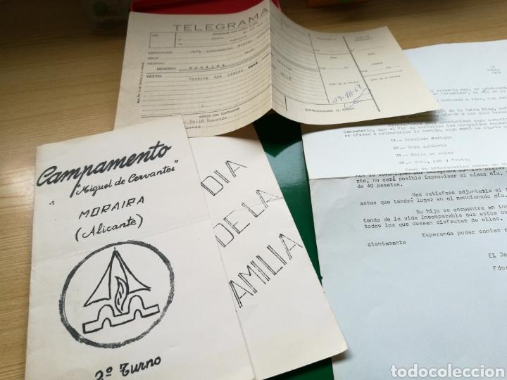 LOTE DE DOCUMENTOS DEL CAMPAMENTO MIGUEL DE CERVANTES. MORAIRA (ALICANTE). 22 DE JULIO 1968 (Coleccionismo - Documentos - Otros documentos)