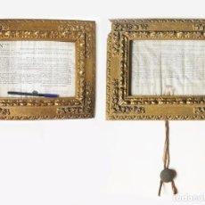 Documentos antiguos: TITULOS DE PERGAMINO - LICENCIADO EN DERECHO - UNIVERSIDAD DE ZARAGOZA CON SELLO - TITULO 1802 1804. Lote 89394048