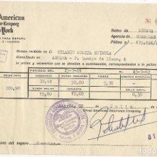 Documentos antiguos: POLIZA SEGURO DE COSECHAS.. Lote 89397284