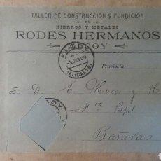 Documentos antiguos: RODES HERMANOS, ALCOY ALICANTE 1909. Lote 89458227