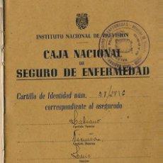 Documentos antiguos: CR40- INSTITUTO NACIONAL DE PREVISION, CAJA NACIONAL SEGURO DE ENFERMEDAD . MADRID, 1944 . Lote 89538912