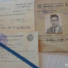 Documentos antiguos: CONJUNTO DE 3 CARNETS.JOSE MARIA MAGRAME BORRAS.REUS.TARRAGONA.AÑOS 50. Lote 90144736