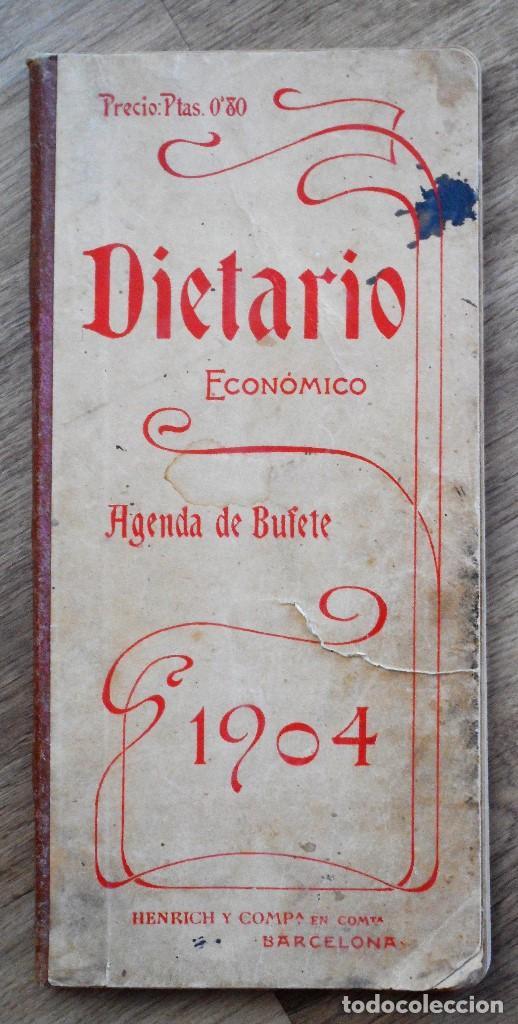 DIETARIO ECONÓMICO AGENDA DE BUFETE PARA 1904 - HENRICH Y C. BARCELONA (Coleccionismo - Documentos - Otros documentos)