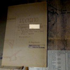 Documentos antiguos: PROYECTO DE EDIFICACION , PLANOS - SANT MARTI SARROCA 1946. Lote 90398300