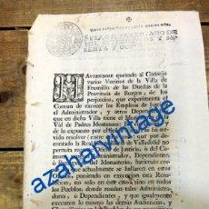 Documentos antiguos: FRESNILLO DE LAS DUEÑAS, BURGOS,1768, QUEJAS DE LOS VECINOS POR ADMINISTRADORES MONASTERIO. Lote 90507430