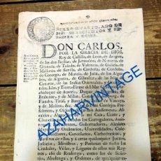 Documentos antiguos: REAL CEDULA PARA QUE SE EXTINGAN LAS CATEDRAS DE LA ESCUELA LLAMADA JESUITICA, 1768, 4 HOJAS. Lote 90519190