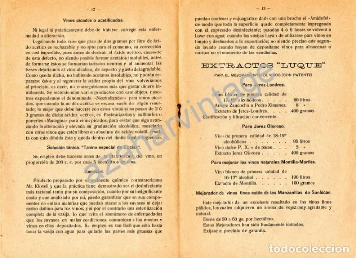 Documentos antiguos: JEREZ DE LA FRONTERA, 1924, FABRICA PRODUCTOS QUIMICOS ADULFO DE LUQUE, 20 PAGINAS - Foto 2 - 161094572