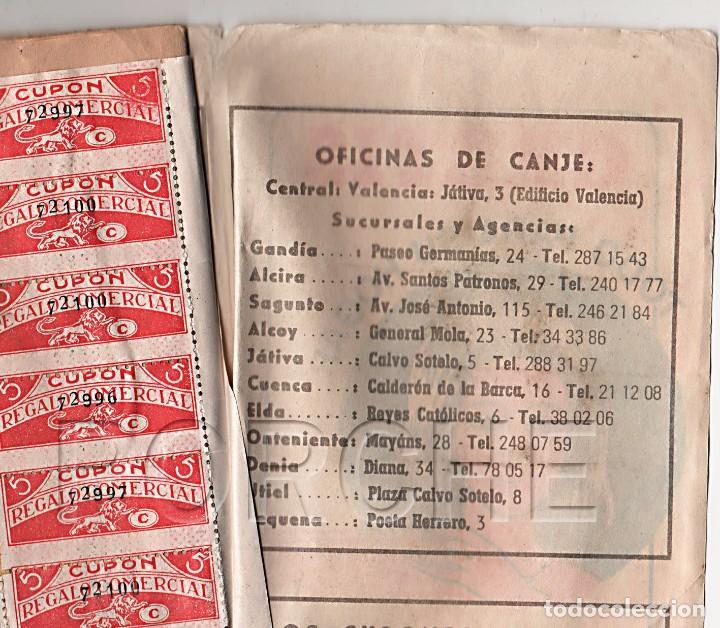 Documentos antiguos: 1 LIBRETA CUPÓN REGALO COMERCIAL - COMPLETA, CON SELLOS PEGADOS- AÑOS 60 - Foto 2 - 90865905