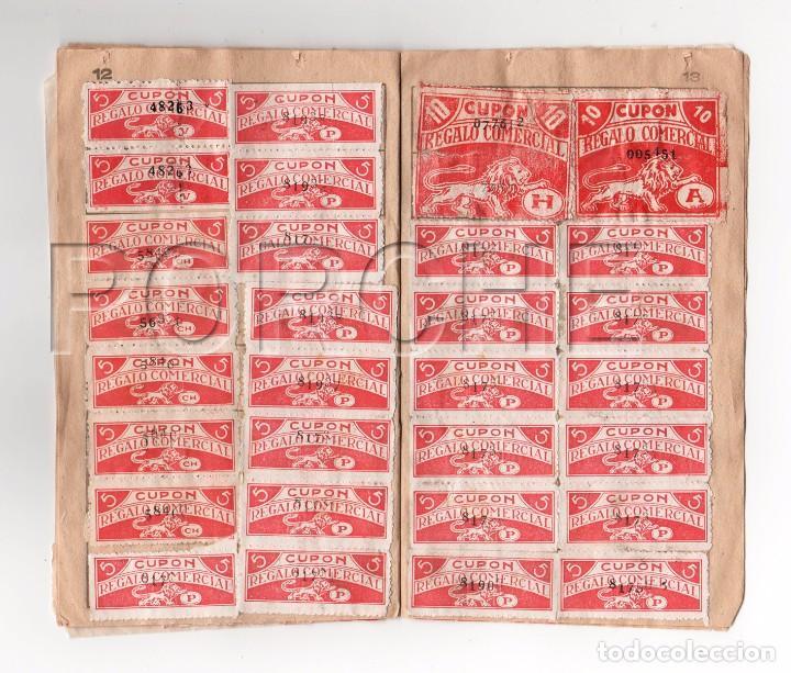 Documentos antiguos: 1 LIBRETA CUPÓN REGALO COMERCIAL - COMPLETA, CON SELLOS PEGADOS- AÑOS 60 - Foto 3 - 90865905