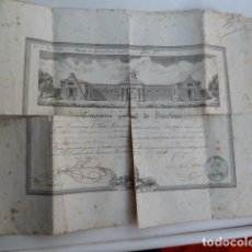 Documentos antiguos: DOCUMENTO TITULO DE CEMENTERIO GENERAL DE BARCELONA DE 1800. Lote 91048660