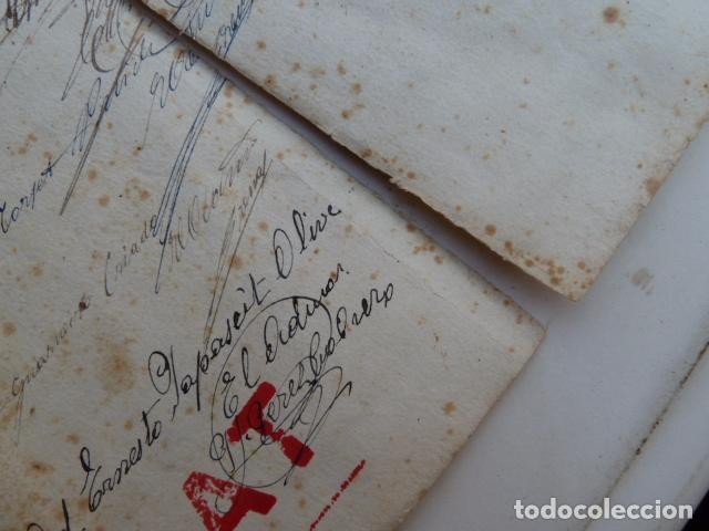 Documentos antiguos: DOCUMENTO TITULO DE CEMENTERIO GENERAL DE BARCELONA DE 1800 - Foto 4 - 91048660