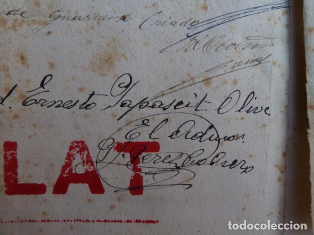 Documentos antiguos: DOCUMENTO TITULO DE CEMENTERIO GENERAL DE BARCELONA DE 1800 - Foto 6 - 91048660