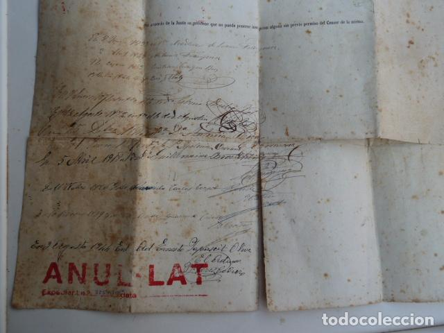 Documentos antiguos: DOCUMENTO TITULO DE CEMENTERIO GENERAL DE BARCELONA DE 1800 - Foto 7 - 91048660