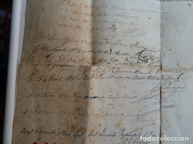 Documentos antiguos: DOCUMENTO TITULO DE CEMENTERIO GENERAL DE BARCELONA DE 1800 - Foto 8 - 91048660