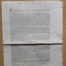 Documents Anciens: DOCUMENTO IMPRESO EN NAVARRA EN 1840. Lote 91434360