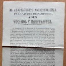 Documentos antiguos: DOCUMENTO IMPRESO EN NAVARRA EN 1840. Lote 91434630