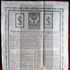 Documentos antiguos: CARTA DE ESCLAVITUD DE S. DIONISIO DE AREOPAGITA, JEREZ LA FRONTERA, 1819. MIDE 43 X 30 CM.. Lote 91435275
