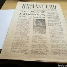 Documentos antiguos: ROMANCERO, LA GACETA DE LOS LIBROS. GRANADA. 26 DE ABRIL DE 1943. Lote 92020198