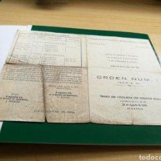Documentos antiguos: DOCUMENTO DE LA COMPAÑÍA DE FERROCARRILES DE MADRID A ZARAGOZA Y ALICANTE.1939. Lote 92021244