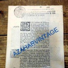 Documentos antiguos: SEVILLA, 1763. ORDEN REAL CON NUEVAS REGLAS PARA EL AUMENTO DE LA CABALLERIA, 7 HOJAS. Lote 92102025