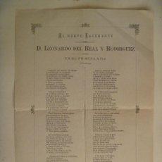 Documentos antiguos: POESIA DEDICADA A NUEVO SACERDOTE EN SU PRIMERA MISA , 1898 . DE WENCESLAO GUILLEN , LA RODA. Lote 147100162