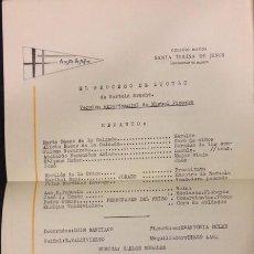 Documentos antiguos: EL PROGRESO DE LUCULO EN EL COLEGIO SANTA TERESA DE JESUS, 1967 BRECHT. Lote 92929755