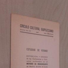 Documentos antiguos: ORTEGA Y GASSET, JULIÁN MARÍAS, JULIO CARO BAROJA.. (SAN SEBASTIÁN 1950).. Lote 92931430