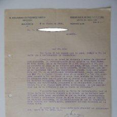 Documentos antiguos: E. EDUARDO GUTIÉRREZ NIETO, MADRID 1930 - REQUERIMIENTO EXTRAJUDICIAL POR FALTA DE PAGO. CINE. Lote 93381480