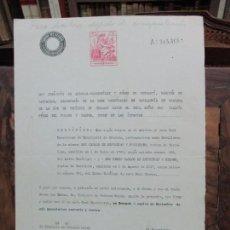 Documentos antiguos: [CERTIFICACIÓN SOBRE CABALLEROS CATALANES DE LA REAL MAESTRANZA DE CABALLERÍA DE GRANADA].1944. Lote 93659980