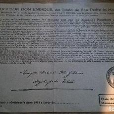 Documents Anciens: BULA DE LA CRUZADA. ENRIQUE PLA Y DENIEL. TOLEDO 1963. Lote 93812705