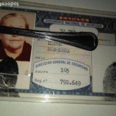 Documentos antiguos: CARNET DE IDENTIDAD ESPAÑOL 1980. Lote 93967995