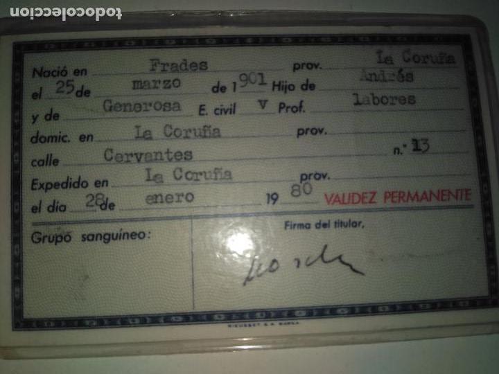 Documentos antiguos: Carnet de identidad español 1980 - Foto 2 - 93967995