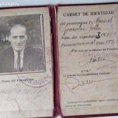 Documentos antiguos: CARNET DE IDENTIDAD AÑOS 30?. Lote 93968070