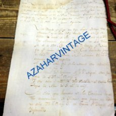 Documentos antiguos: 1787, DECLARACION MANUSCRITA DE BIENES, TIERRAS, ACEITE, VINO, RARO. Lote 94058390